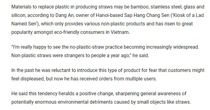 ống hút tre - bamboo straw